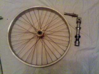 переднее колесо и детали