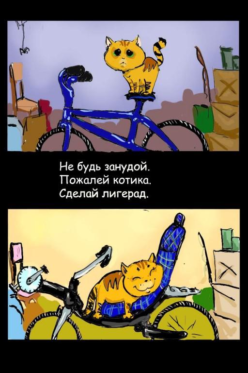 Велосипедисты, не обижайтесь)))