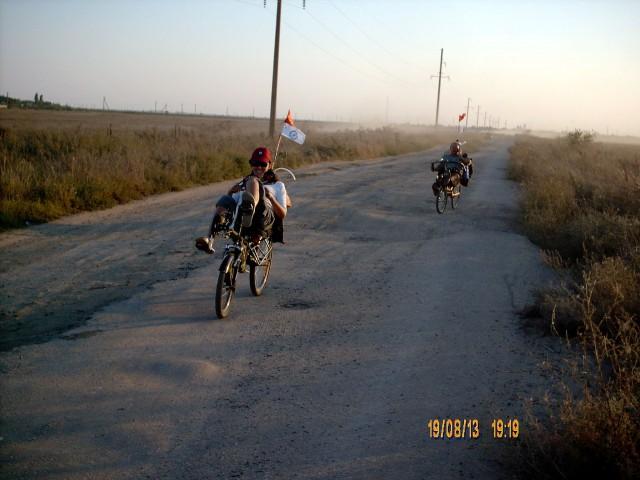 Дорога к пляжу в селе Приморское фото Алексей Ганшина