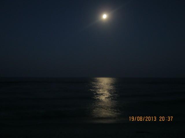 Лунная дорожка в Приморском фото Игоря Галанина