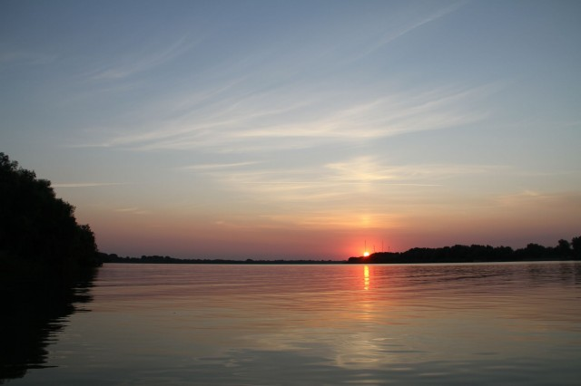 Закат на Дунае Фото: Соло