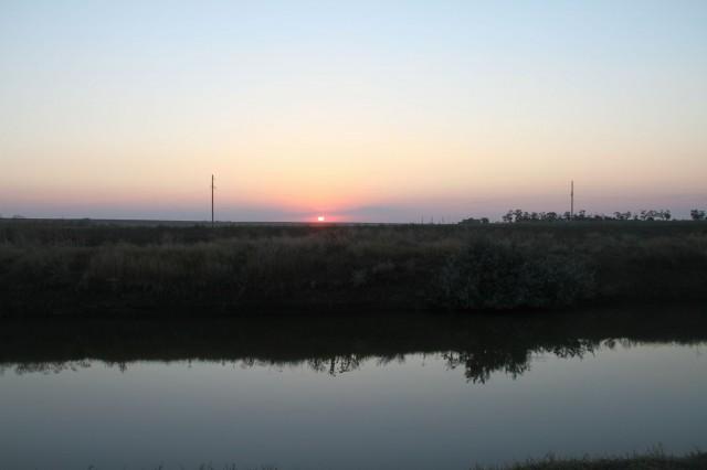 Закат на реке в Жёлтом Яру фото: Соло