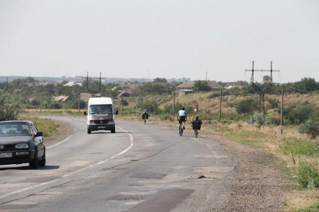 Участники велопробега на территории Молдавии