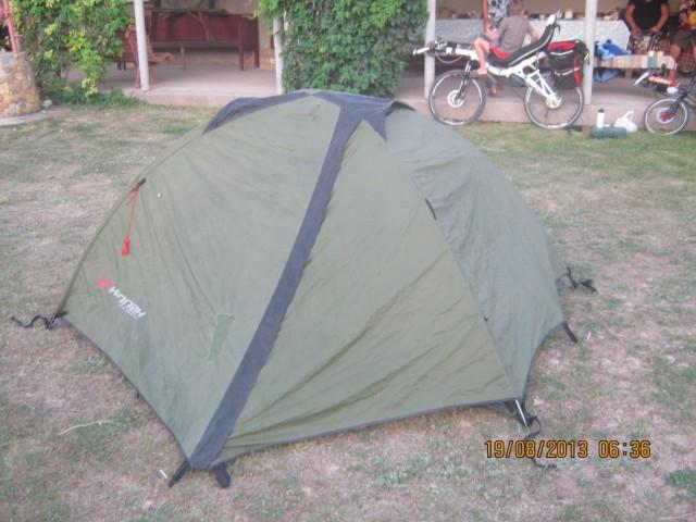 Палатка Бориса и Николая