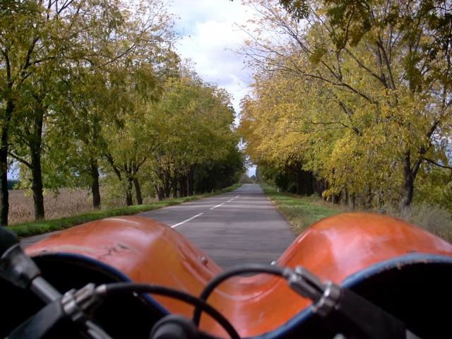 Место, где ехать приятнее всего.  К сожалению, такой дороги там всего полтора километра