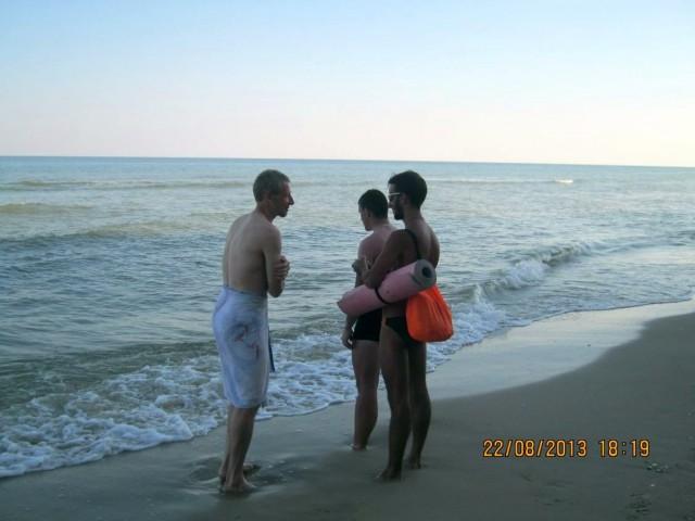 Борис и два Сергея на пляже