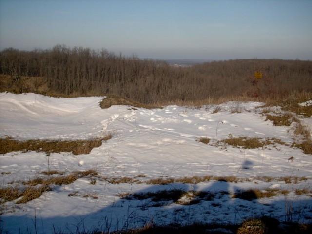 Вид с Преднепровской возвышенности в сторону Днепра