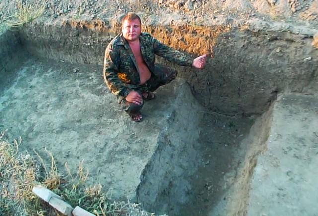 """""""Зачем была нужна эта яма полукруглой формы - мы еще не выяснили"""""""