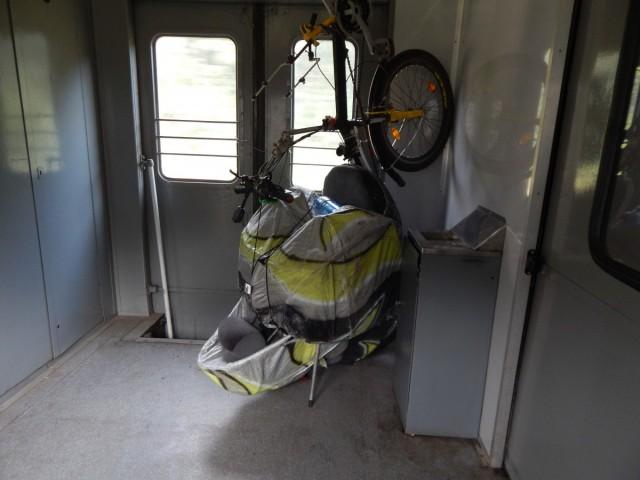 Компактне розміщення в потязі