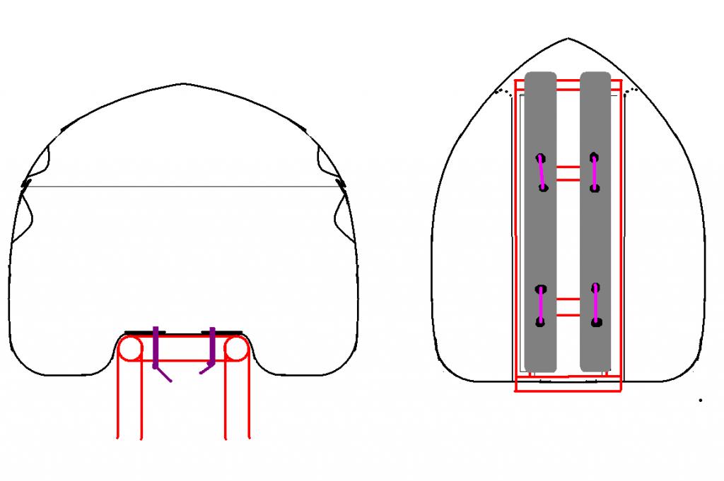 Схема кріплення на звичайний туристичний багажник