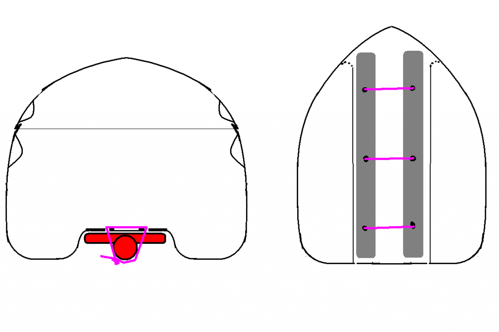 Схема кріплення на консольний багажник