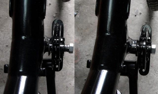 Можливість вибрати положення ролика в залежності від ширини задньої покришки
