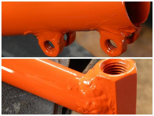 Зварювальні шви оброблені автомобільним герметиком