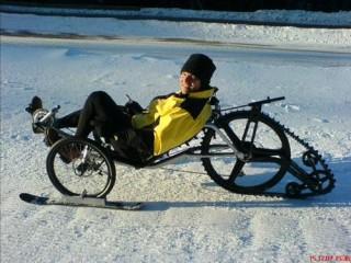 Трайк для езды по укатанному снегу