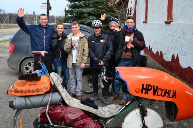 Алексей и кировоградские велоэнтузиасты