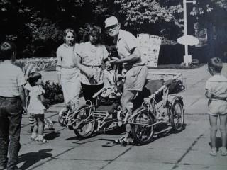 В.П.Лемижанский и ,,пролетка,,  1988 Полтава